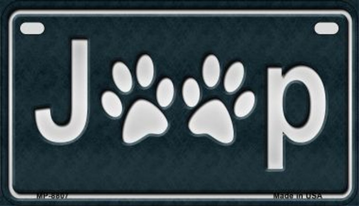 J**P Dog Paws Novelty Metal Motorcycle Plate MP-8807