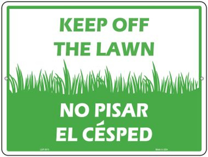 Keep Off The Lawn Novelty Parking Sign P-2613