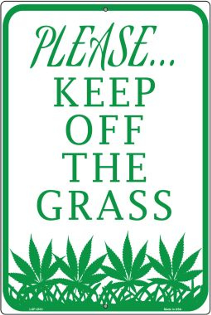 Please Keep Off Grass Novelty Large Parking Sign LGP-2610