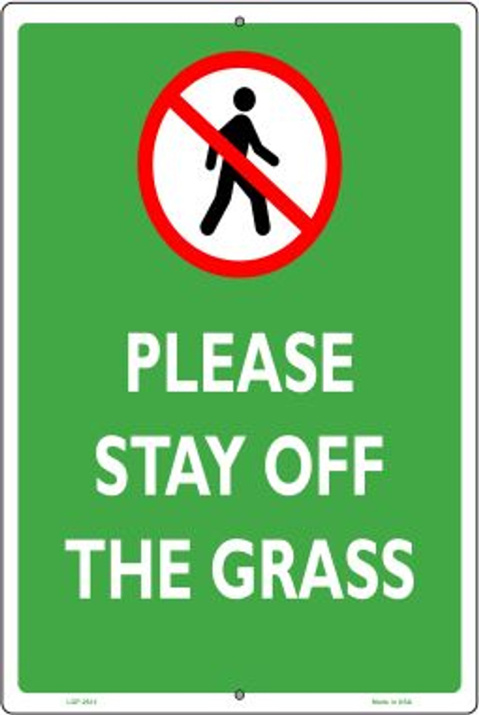 Please Stay Off Grass Wholesale Novelty Large Parking Sign LGP-2612