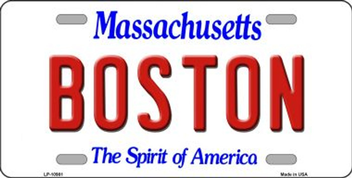 Boston Massachusetts Novelty Metal License Plate LP-10981