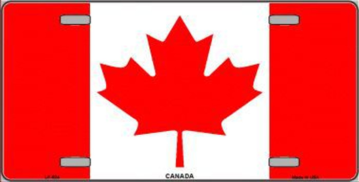 Canadian Flag Metal Novelty License Plate LP-524