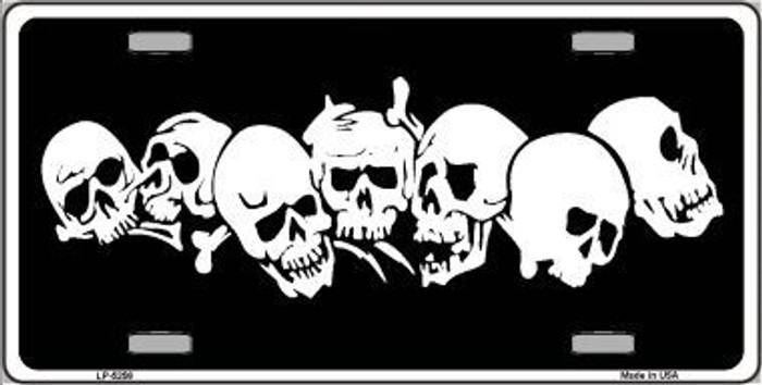 Skulls Novelty Metal License Plate LP-5256