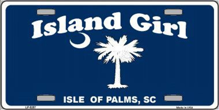 Island Girl Metal Novelty License Plate LP-5257