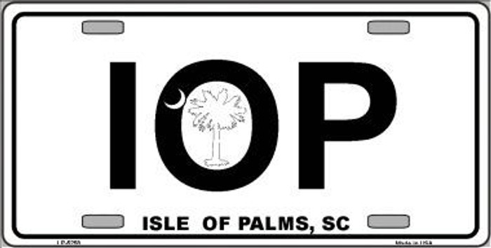 IOP Isle of Palms Metal Novelty License Plate LP-5258
