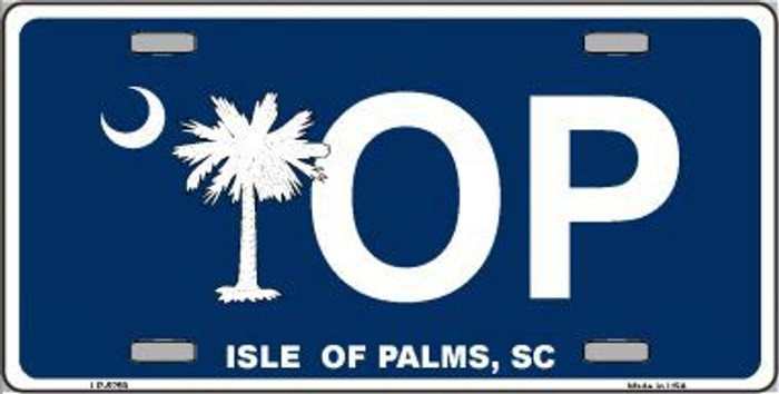 IOP Isle of Palms Blue Metal Novelty License Plate LP-5259