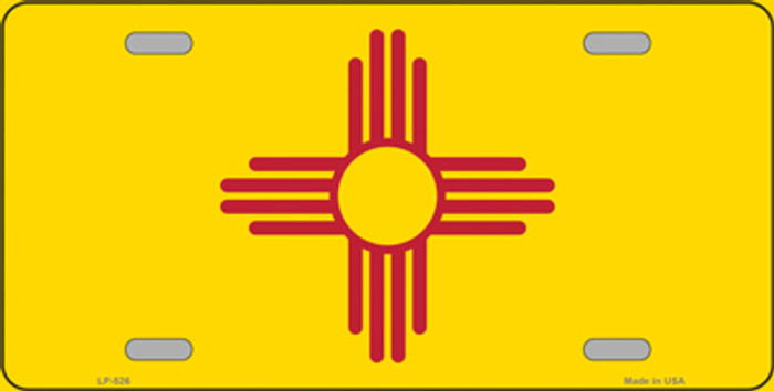 New Mexico State Flag Metal Novelty License Plate Tag LP-526