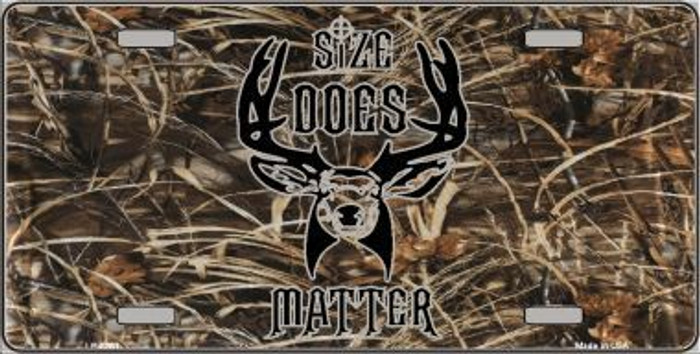 Size Does Matter Metal Novelty License Plate LP-5261