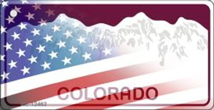 Colorado with American Flag Novelty Metal Key Chain KC-12462