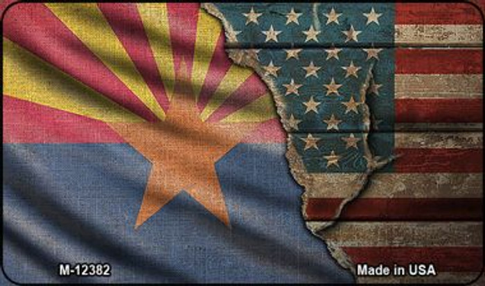 Arizona/American Flag Novelty Metal Magnet M-12382