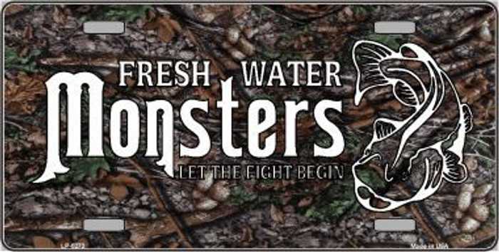 Fresh Water Monsters Metal Novelty License Plate