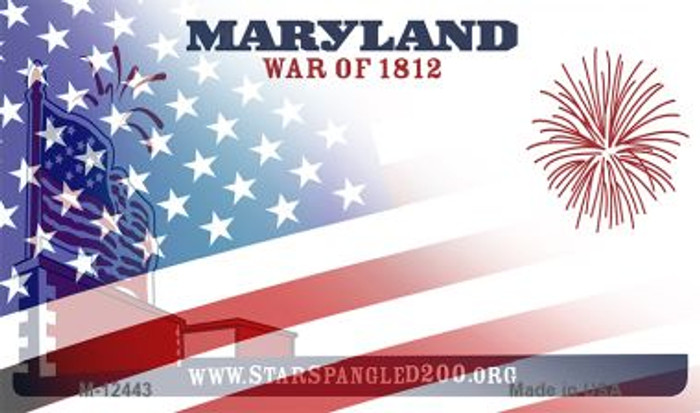Maryland with American Flag Novelty Metal Magnet M-12443