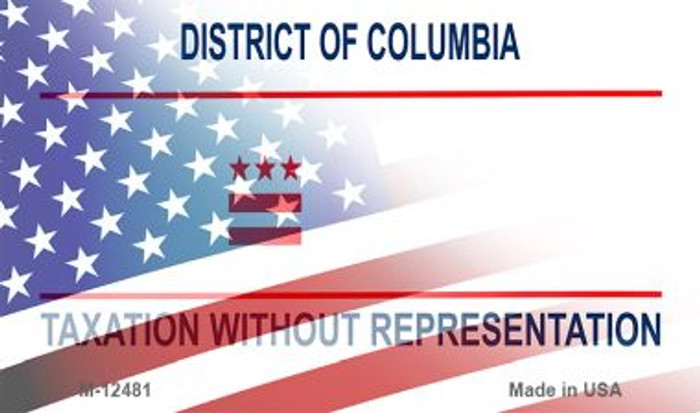 District of Columbia with American Flag Novelty Metal Magnet M-12481