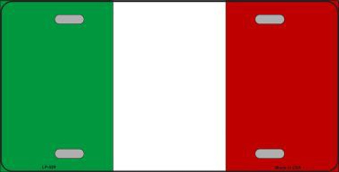 Italy Flag Metal Novelty License Plate