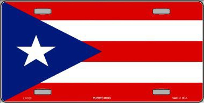 Puerto Rico Flag Metal Novelty License Plate LP-530