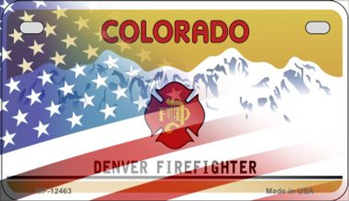 Colorado with American Flag Novelty Metal Motorcycle Plate MP-12463