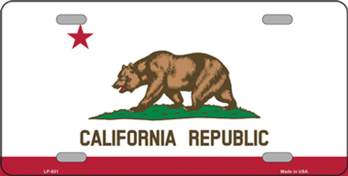 California State Flag Metal Novelty License Plate Tag LP-531
