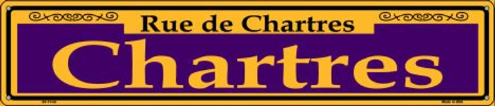 Chartres Purple Novelty Metal Street Sign ST-1142