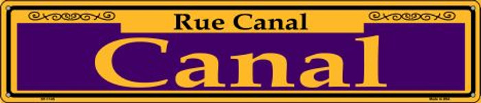 Canal Purple Novelty Metal Street Sign ST-1145