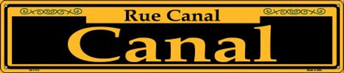 Canal Yellow Novelty Metal Street Sign ST-1174
