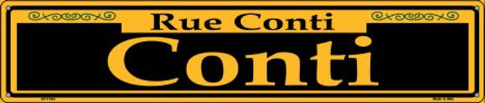 Conti Yellow Novelty Metal Street Sign ST-1184