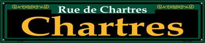Chartres Green Novelty Metal Street Sign ST-1200