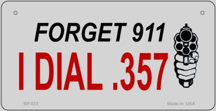 Forget 911 Novelty Metal Bicycle Plate BP-023
