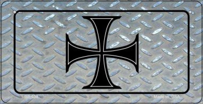 Maltese Diamond Novelty Metal Bicycle Plate BP-039