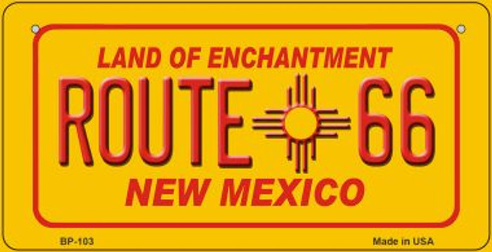 Route 66 New Mexico Novelty Metal Bicycle Plate BP-103