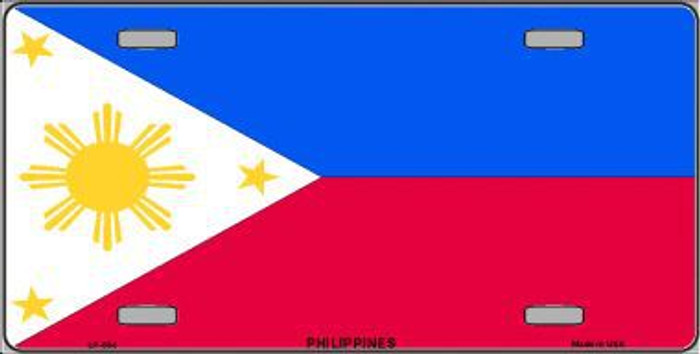 Philippines Flag Metal Novelty License Plate LP-534