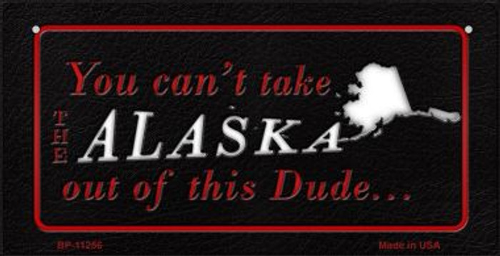 Alaska Dude Novelty Metal Bicycle Plate BP-11256
