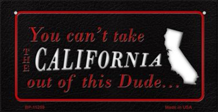 California Dude Novelty Metal Bicycle Plate BP-11259