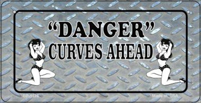 Danger Curves Ahead Novelty Metal Bicycle Plate BP-1126