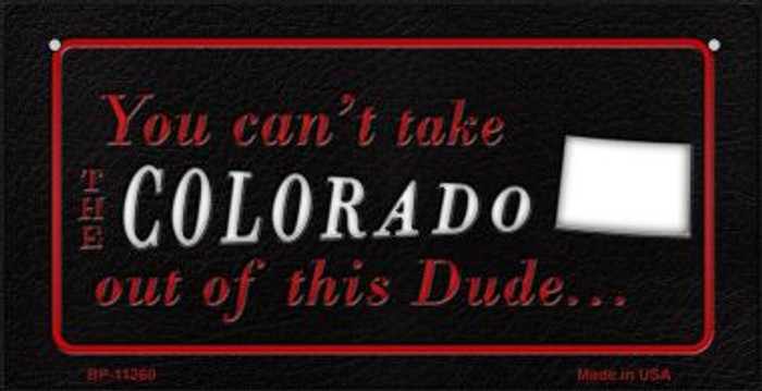 Colorado Dude Novelty Metal Bicycle Plate BP-11260