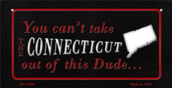 Connecticut Dude Novelty Metal Bicycle Plate BP-11261