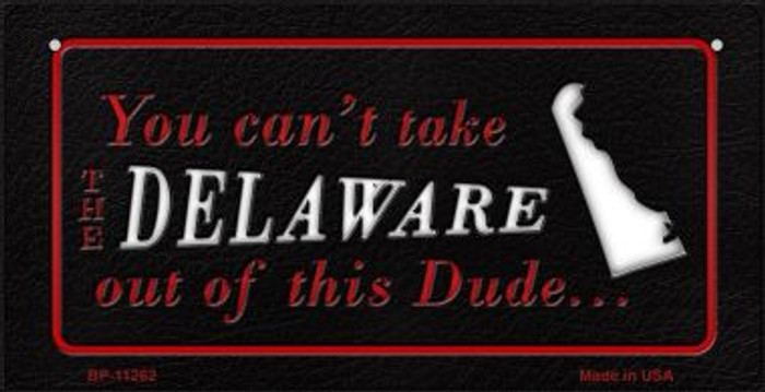 Delaware Dude Novelty Metal Bicycle Plate BP-11262