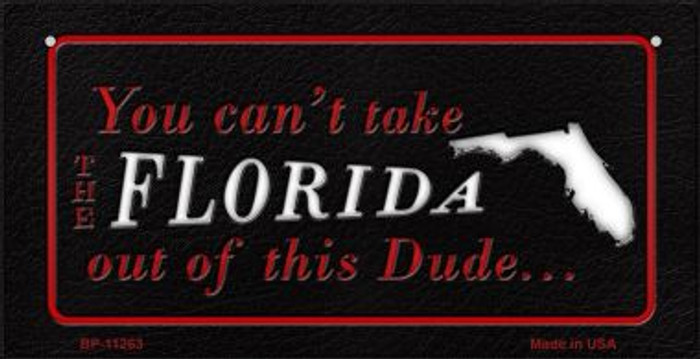 Florida Dude Novelty Metal Bicycle Plate BP-11263