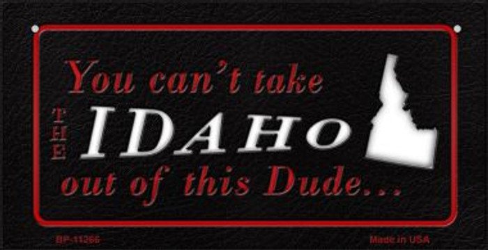 Idaho Dude Novelty Metal Bicycle Plate BP-11266