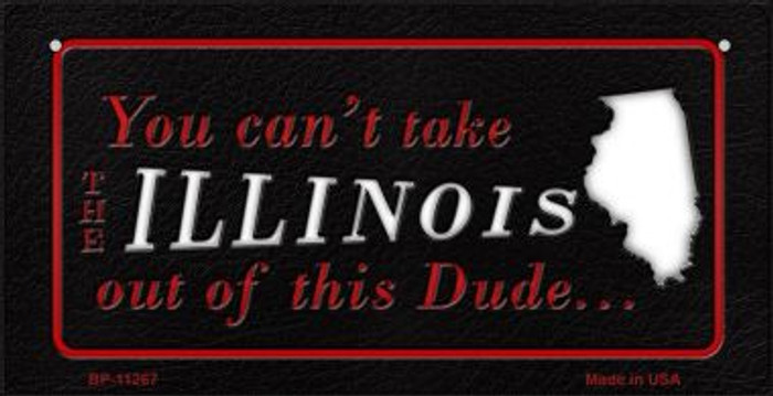 Illinois Dude Novelty Metal Bicycle Plate BP-11267
