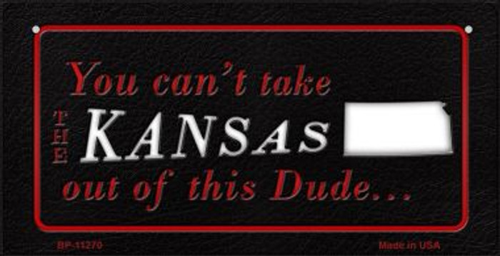 Kansas Dude Novelty Metal Bicycle Plate BP-11270