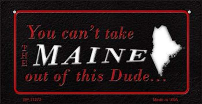 Maine Dude Novelty Metal Bicycle Plate BP-11273