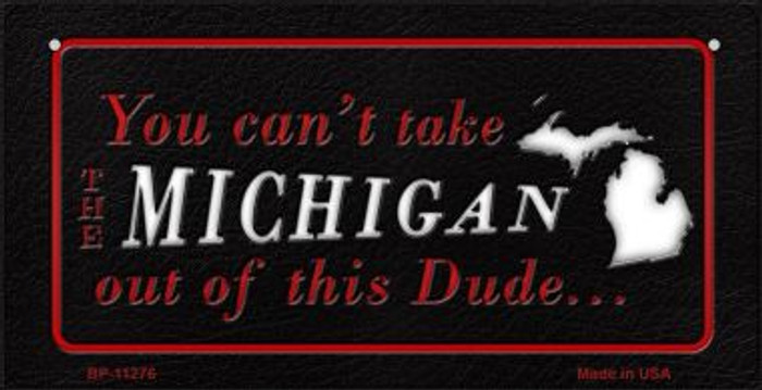 Michigan Dude Novelty Metal Bicycle Plate BP-11276