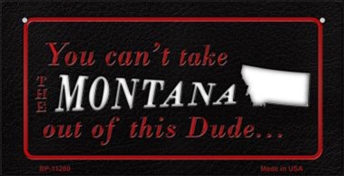 Montana Dude Novelty Metal Bicycle Plate BP-11280
