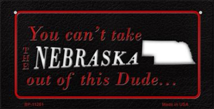 Nebraska Dude  Novelty Metal Bicycle Plate BP-11281