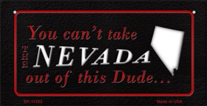 Nevada Dude Novelty Metal Bicycle Plate BP-11282