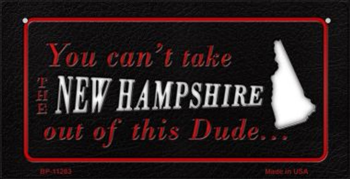 New Hampshire Dude Novelty Metal Bicycle Plate BP-11283