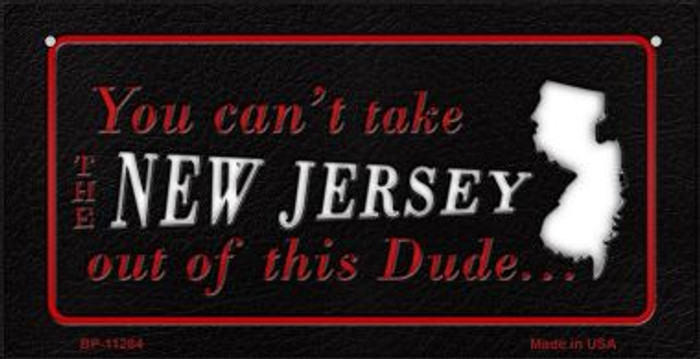 New Jersey Dude Novelty Metal Bicycle Plate BP-11284