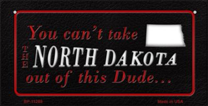 North Dakota Dude Novelty Metal Bicycle Plate BP-11288