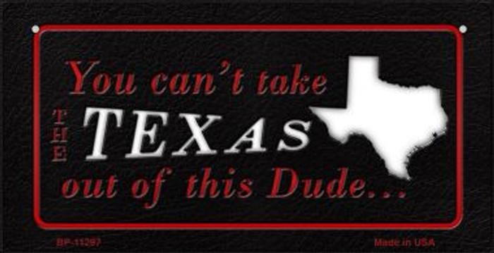 Texas Dude Novelty Metal Bicycle Plate BP-11297