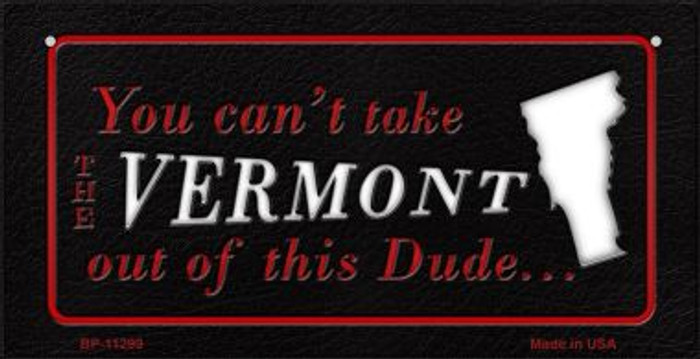 Vermont Dude Novelty Metal Bicycle Plate BP-11299